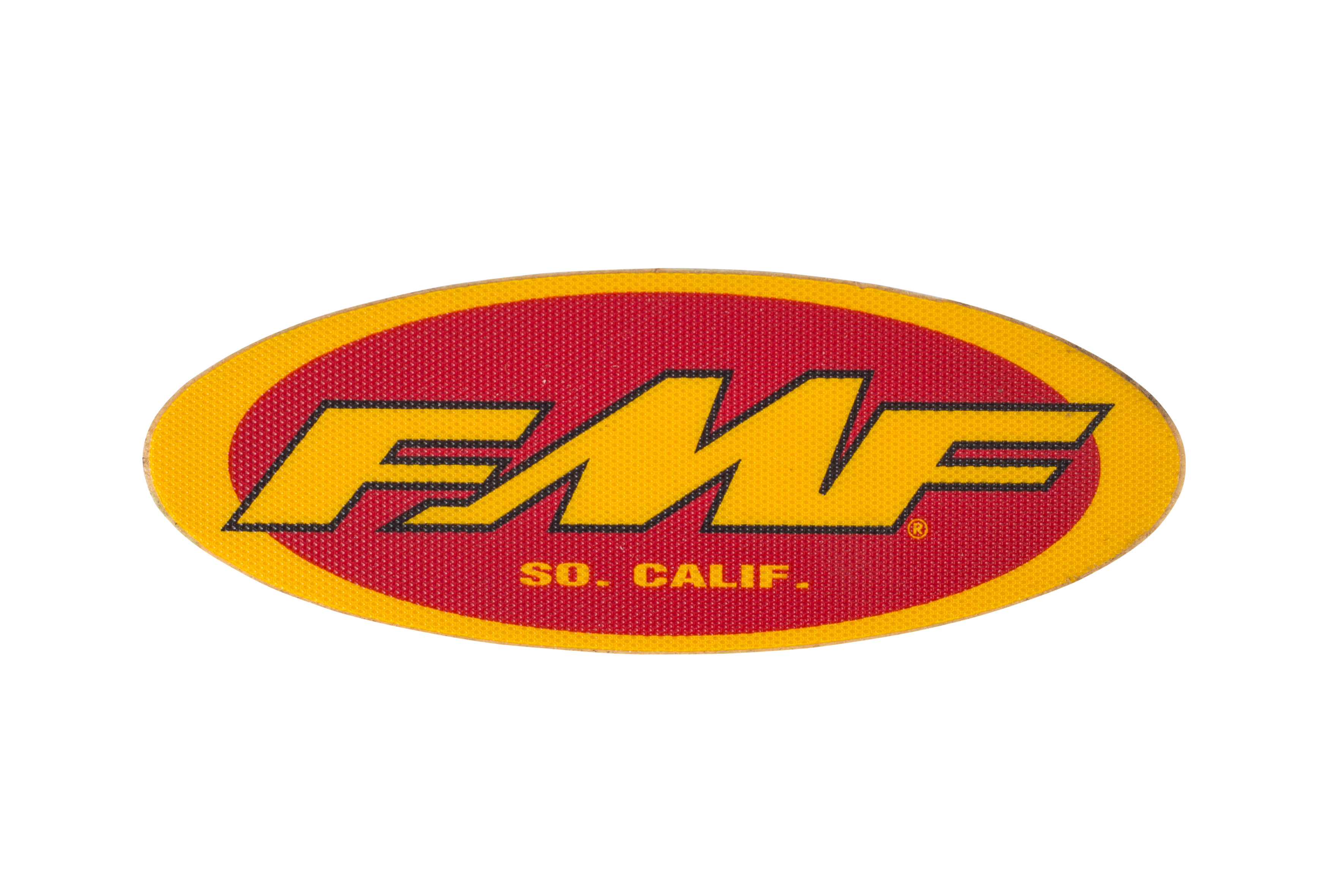 "FMF 5"" JERSEY STKR (YEL/RED) (INDIVIDUAL) (010597)"