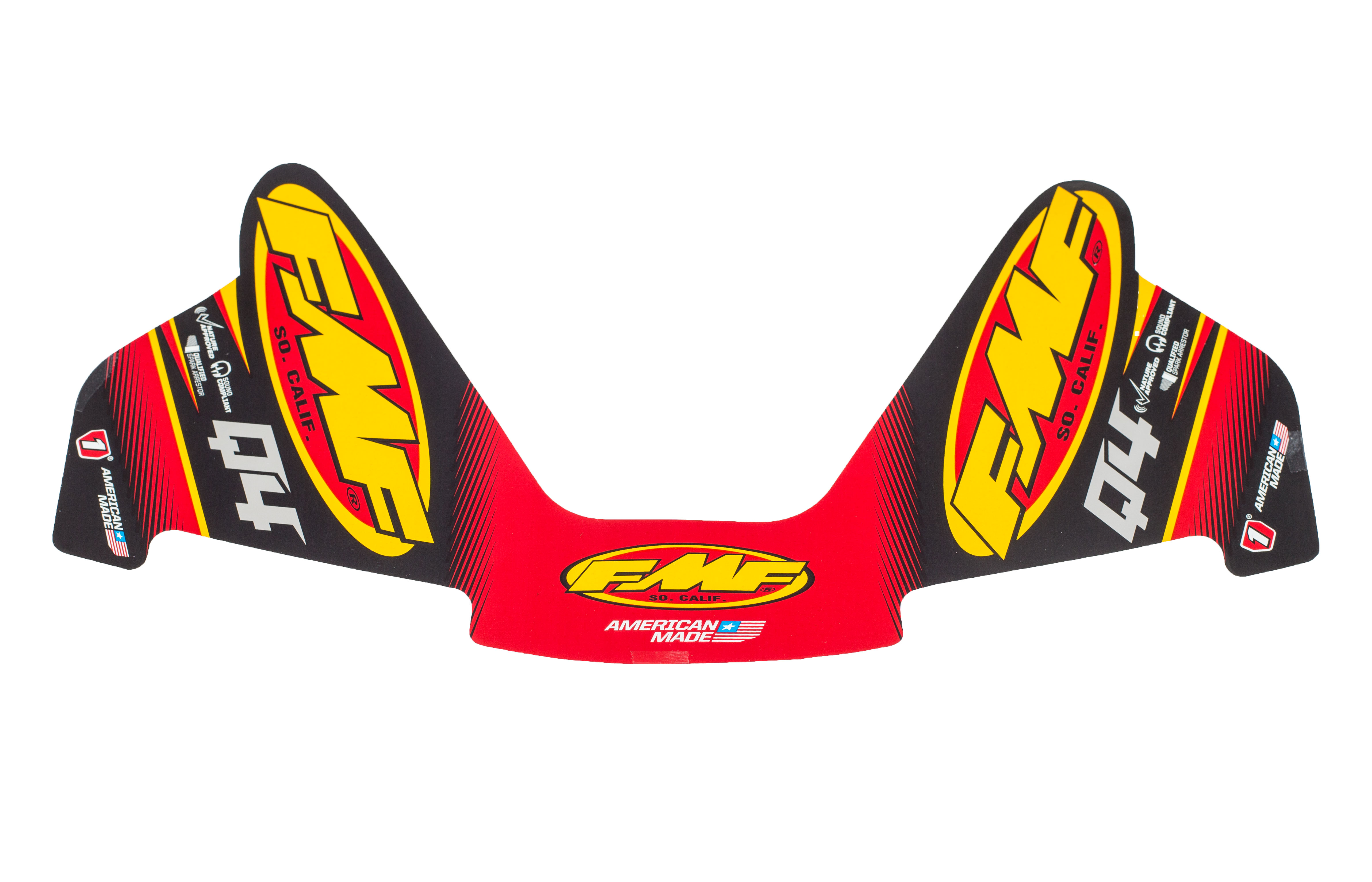 FMF Q4 2-PART WRAP LOGO DECAL REPLACEMENT