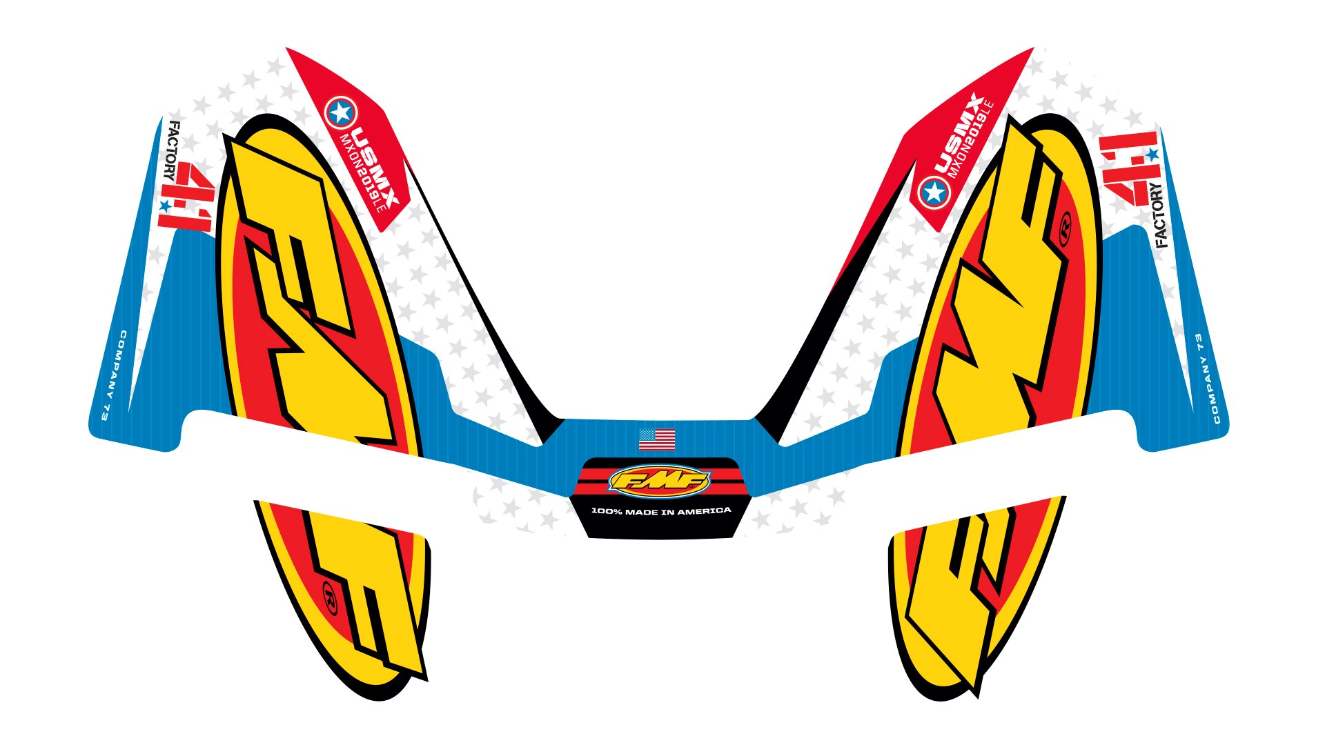 FMF 4.1 MX OF NATIONS WRAP DECAL